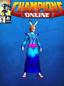Costume doctorarcade-7059 Princess Violet Usako Tokugawa CC Comic Page Blue 598779661