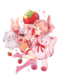 Skin-Strawberry Daifuku-Simple Pleasures