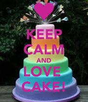 Keep calm and love cake