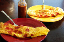 White-Cheese-and-Pepperoni-Omelets