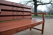 A Bench Made from KitKats