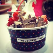 Red mango frozen yogurt - treat yourself well