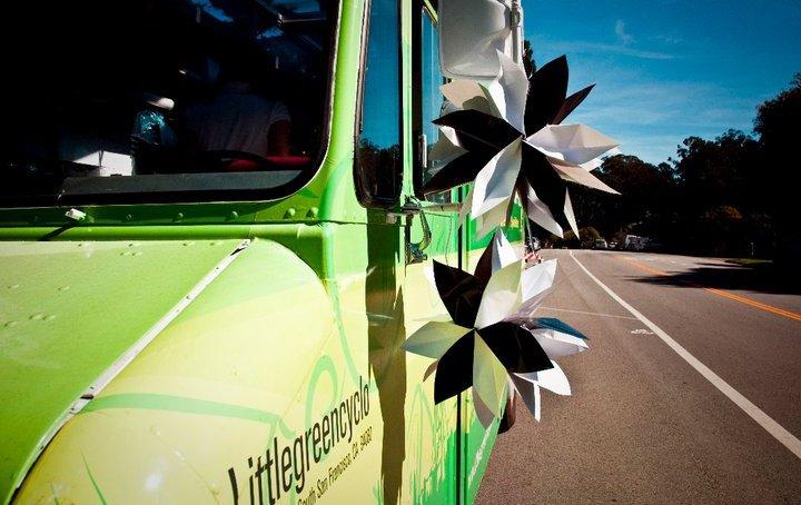 little green cyclo food truck