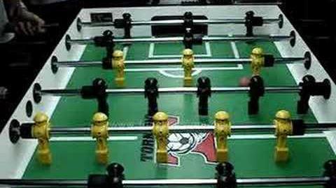 Foosball Push-Kick (near side)
