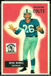 118 Royce Womble football card