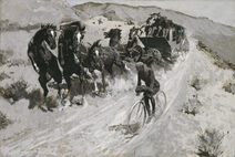The Right of the Road, 1900, by Frederic S. Remington