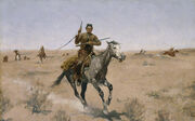 Frederic Remington - The Flight - Google Art Project