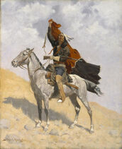 Frederic Remington - The Blanket Signal - Google Art Project