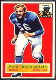 44 Joe Schmidt football card