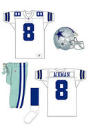 Dallas Cowboys white uniform