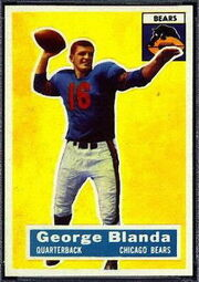 11 George Blanda football card