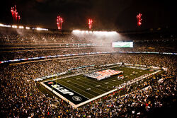 Service members unfurl flag at NY Jets first home game at new Meadowlands Stadium