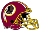 Washington Redskins helmet rightface