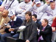 Eli Manning at rally after Super Bowl XLII