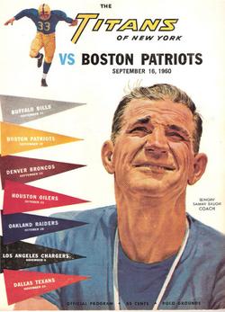 Patriots Titans program 1960