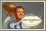 11 Norm Van Brocklin football card