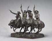 Frederic Remington, Off the Range (Coming Through the Rye), model 1902, cast 1903, NGA 166488