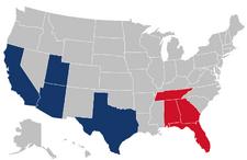 2019 AAF states