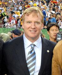 Roger Goodell at Super Bowl 43