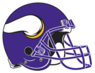 Minnesota Vikings helmet rightface