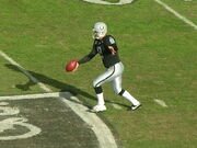 Shane Lechler punts at Falcons at Raiders 11-2-08