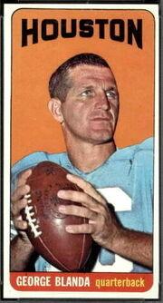 69 George Blanda football card