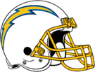 Los Angeles Chargers helmet rightface