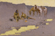 Frederic Remington - A New Year on the Cimarron - Google Art Project