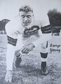 A publicity photo of Young in a Cleveland Browns uniform