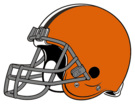 Cleveland Browns helmet leftface