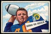 1 Norm Van Brocklin football card