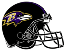 Baltimore Ravens helmet rightface