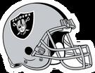 Oakland Raiders helmet rightface