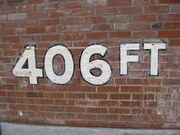 Forbes Field wall 406ft