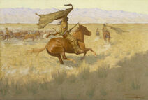 Frederic Remington - Change of Ownership (The Stampede; Horse Thieves) - Google Art Project