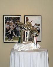 Patriots Superbowl Trophies
