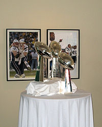 Patriots Superbowl Trophies