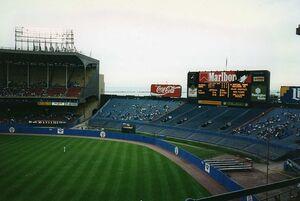 ClevelandMunicipalStadium1993Outfield