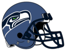 Seattle Seahawks helmet rightface
