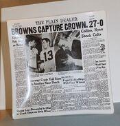 Browns Championship Souvenir Plate