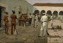 Frederic Remington - The Mier Expedition- The Drawing of the Black Bean - Google Art Project