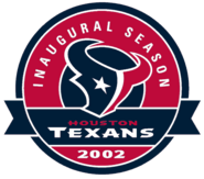 Houston Texans - 2002 Inaugural Season Patch