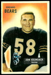 76 John Kreamcheck football card