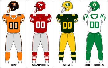 CFL Retro West Jerseys 2010