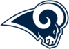 Los Angeles Rams logo white