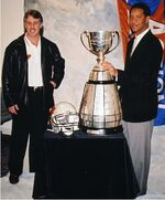 Lui Passaglia and Damon Allen with Grey Cup