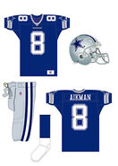 Dallas Cowboys navy uniform