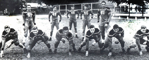 1941 Doc Blanchard on Gulf Coast Championship St Stanislaus football team