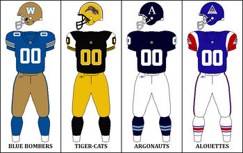 CFL Retro East Jerseys 2010