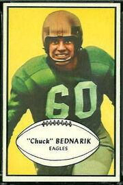 24 Chuck Bednarik football card